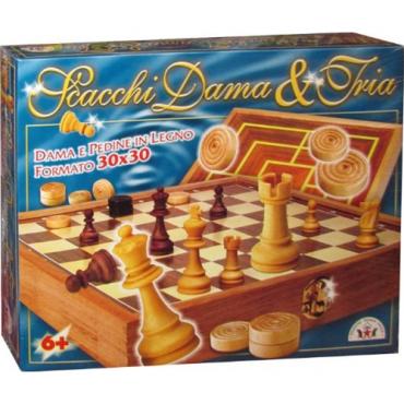 SCACCHI / DAMA / TRIA 30X30